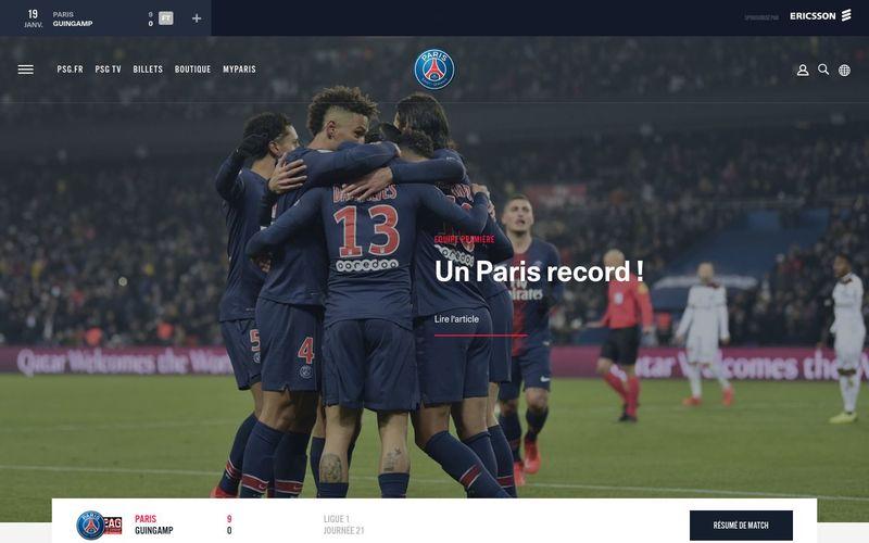 Le site officiel du Paris Saint-Germain